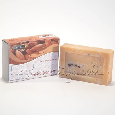 Мыло Hemani - Almond Soap Bar (с миндалем)