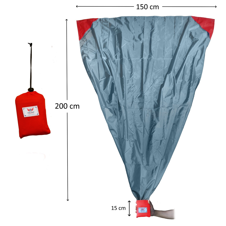XL Outdoor-, Picknickdecke und Stranddecke, wasserdicht, ultraleicht, 200 cm x 150 cm, mit Tasche