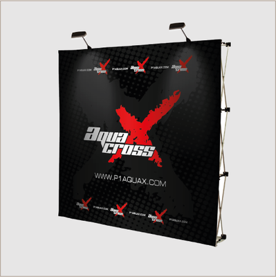Impact Straight 3x4 Pop up Display (Fabric Graphic)