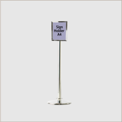 Sign Holder Chrome Posts