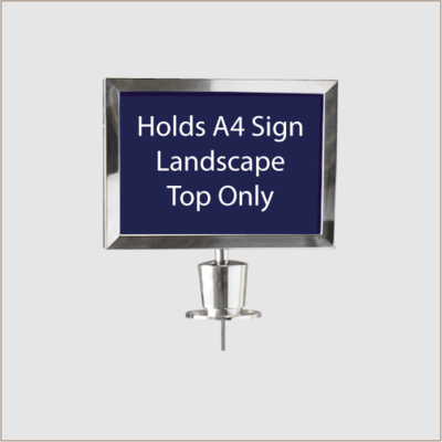 Top Sign Holder Chrome (Landscape)