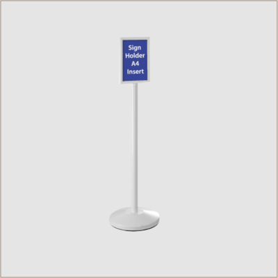 Sign Holder White