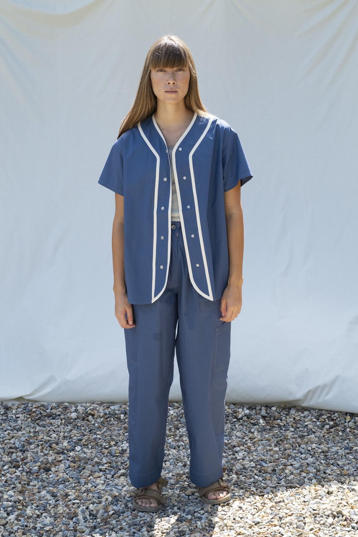 W'menswear All-Girl's League Shirt in Blue