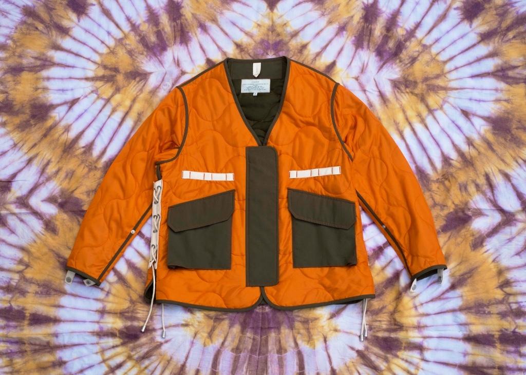 W'menswear Tropical Flight Jacket in Orange FLTR-O