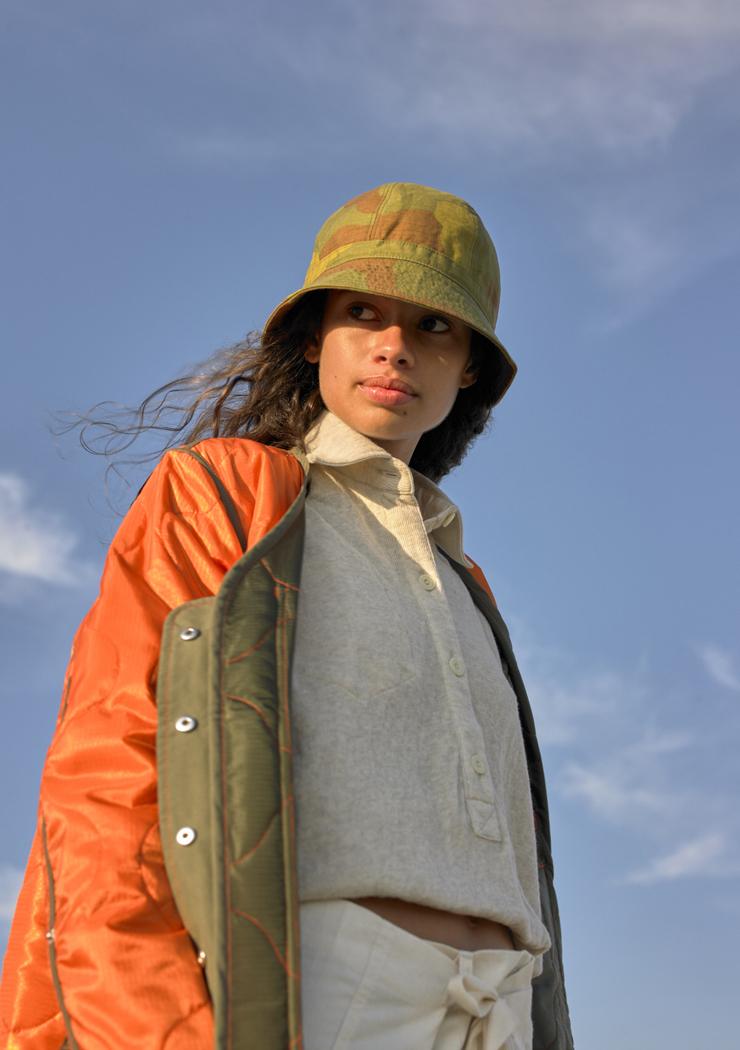 W'menswear Tropical Flight Jacket in Orange