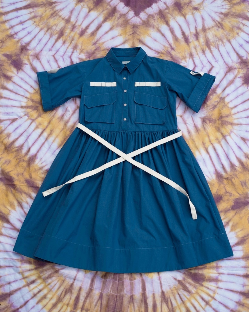 W'menswear Field Aid's Dress in Blue FAD-B