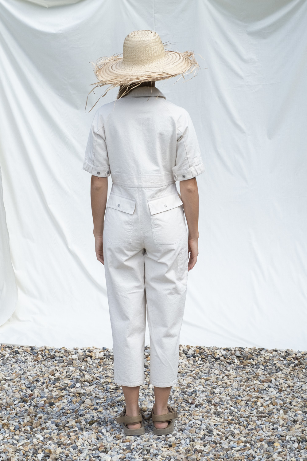 W'menswear Tropical Fieldwork Suit in Off-White
