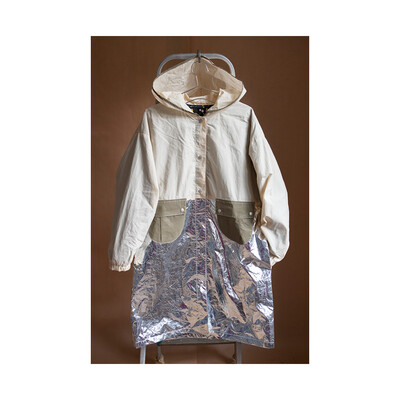 W'MENSWEAR GALACTIC WEATHER COAT IN SILVER