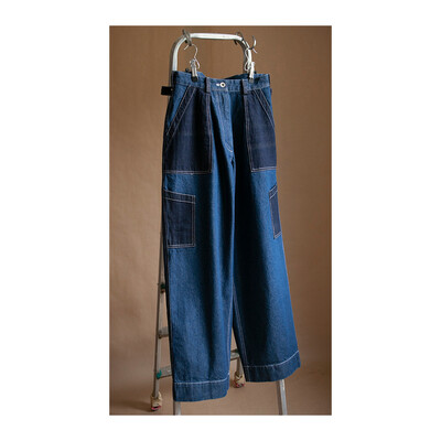 W'MENSWEAR FLIGHT PANTS IN DENIM