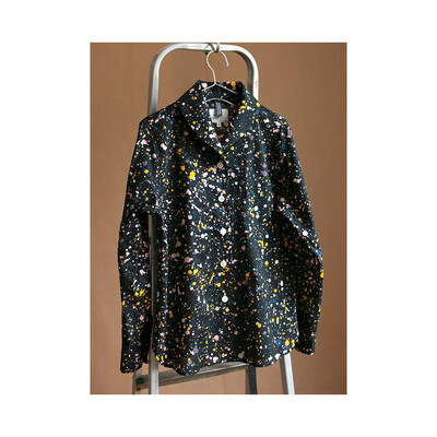 W'MENSWEAR JAMISON SHIRT IN COSMIC BLACK
