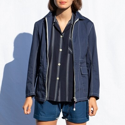 W'MENSWEAR SAILCLOTH JACKET IN BLUE