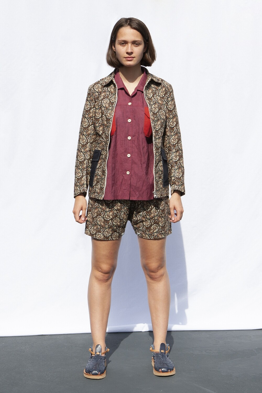 W'MENSWEAR SAILCLOTH JACKET IN PAISLEY