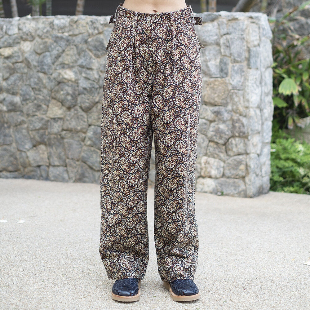 W'MENSWEAR LIMITED EDITION MARINE PANTS IN PAISLEY