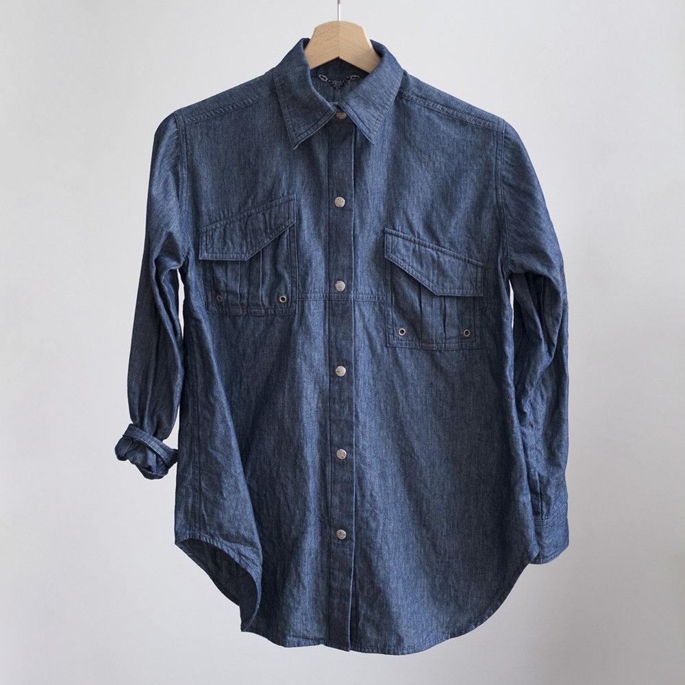 W'menswear Indigo Field Shirt 0010FS