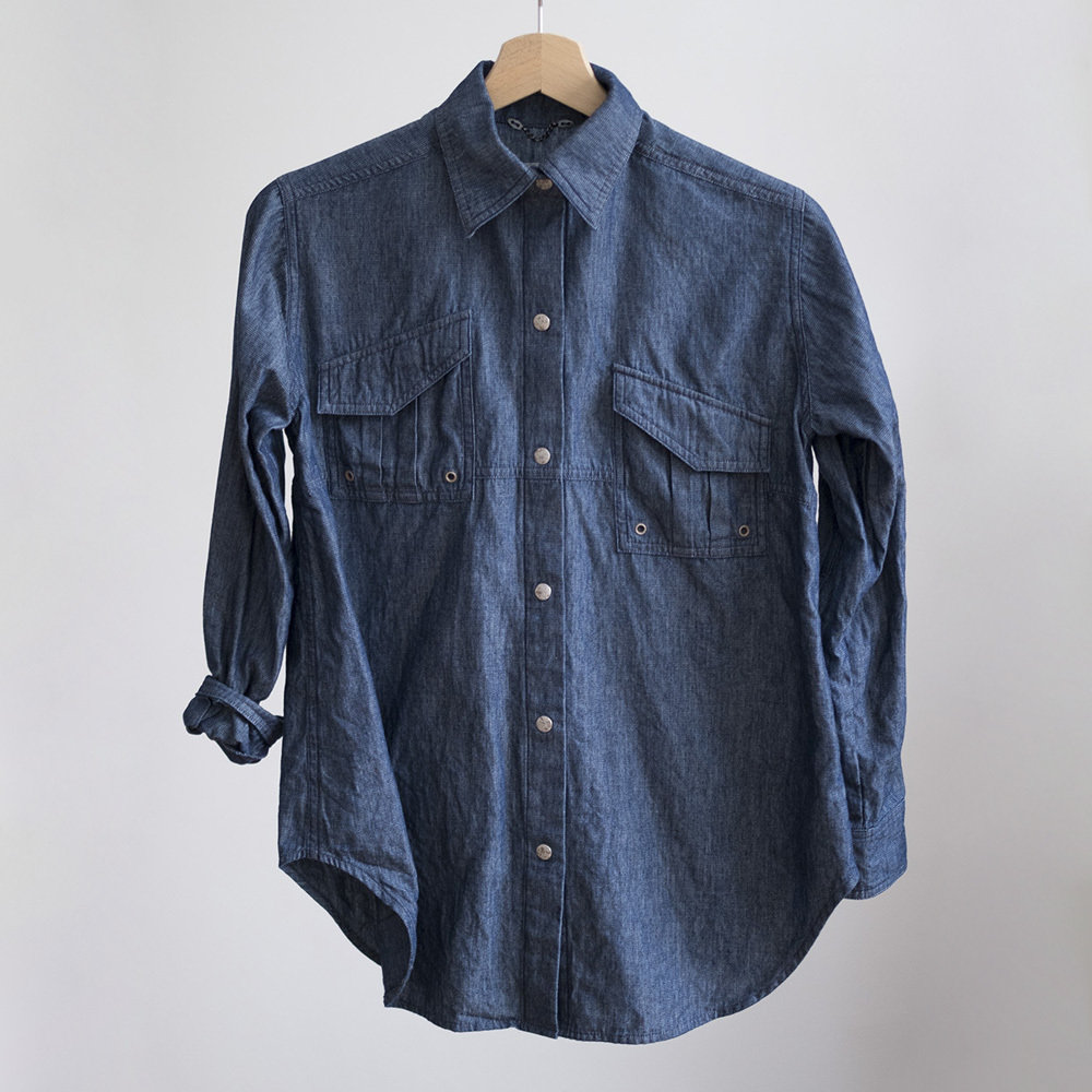 W'menswear Indigo Field Shirt