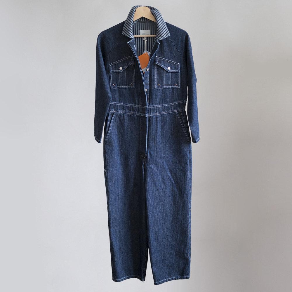 W'menswear Fieldwork Suit in Denim Herringbone 00110FWSD