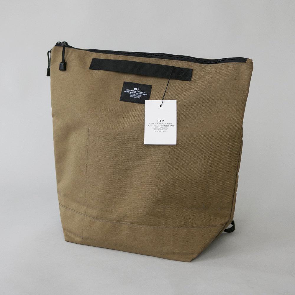 BIP Zipper Backpack in Khaki 00113