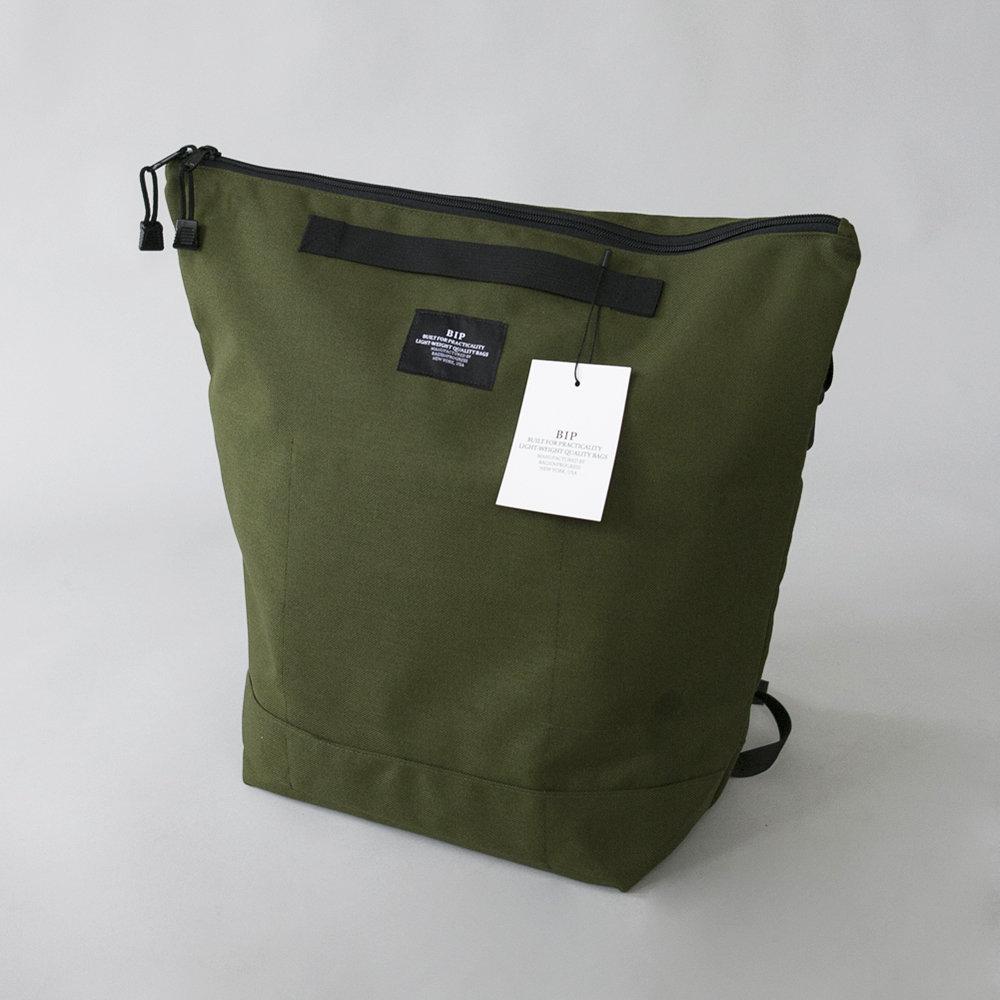 BIP Zipper Backpack in Olive 00115