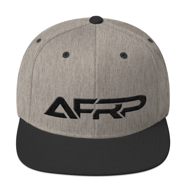 AFRP Heather & Black Snapback Hat 00035