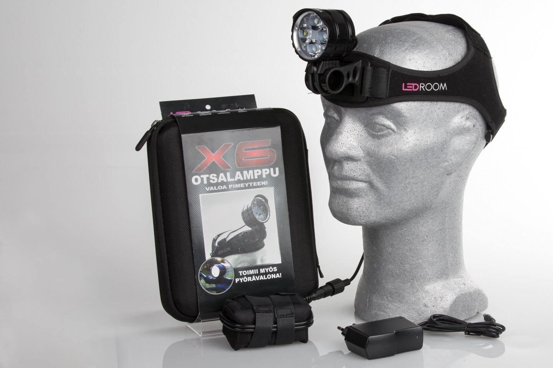 LedRoom X6 - 3000 lumenin ladattava otsalamppu LEDR-X6