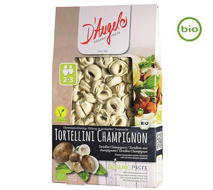 D'Angelo TORTELLINI with button mushrooms, organic, 250g