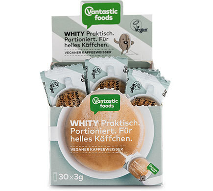 Vantastic foods WHITY coffee whitener one-  portion packs, 30 x 3g