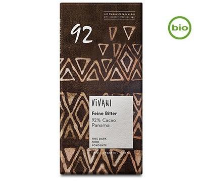 Vivani Organic FINE BITTER 92% CACAO  chocolate, 80g