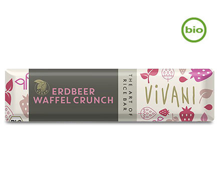 Vivani Organic STRAWBERRY WAFER CRUNCH bar, 35g