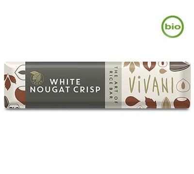 Vivani Organic WHITE NOUGAT CRISP bar, 35g