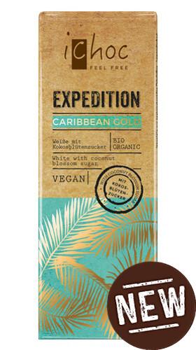 Ichoc Caribbean Gold - Organic Malted Caramel white chocolate!