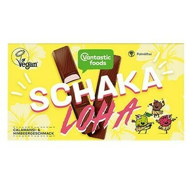 Vantastic Foods SchakaLoha - Citrus and Raspberry Cream filled Choc fingers!