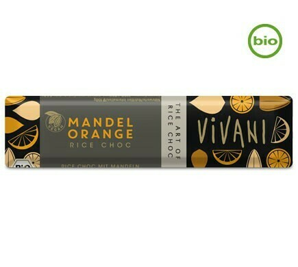 Vivani Organic ALMOND ORANGE bar, 35g