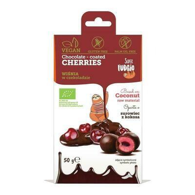 Chocolate Coated Cherries - Organic! 50g