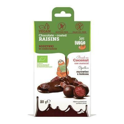 Chocolate coated raisins - Organic - 80g