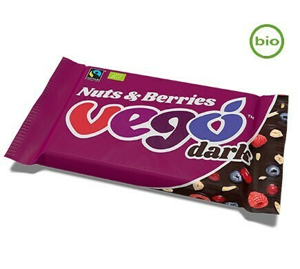 Vego Dark Nuts and Berries!! Organic, Fairtrade, Gluten-Free! 85g