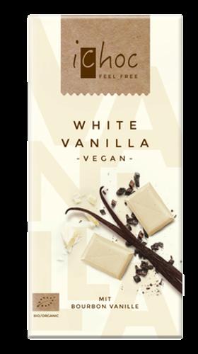 Ichoc Organic White Vanilla Chocolate 80g