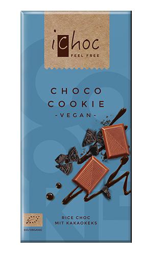 Ichoc Organic Choco Cookie Rice Milk Chocolate 80g