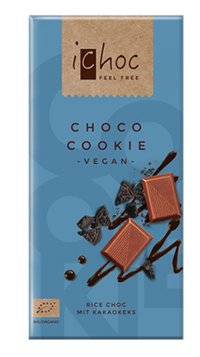 Ichoc Organic Choco Cookie Rice Milk Chocolate 80g
