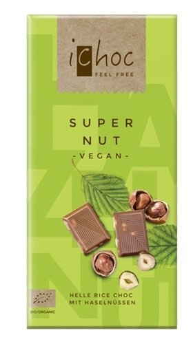 Ichoc Organic Super Nut Rice Milk Chocolate 80g