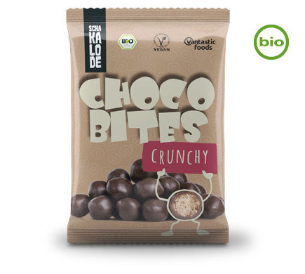 "CHOCO-BITES ORGANIC CORN-MILLET BALLS IN A DARK CHOCOLATE COATING (VEGAN ""MALTESERS"")"