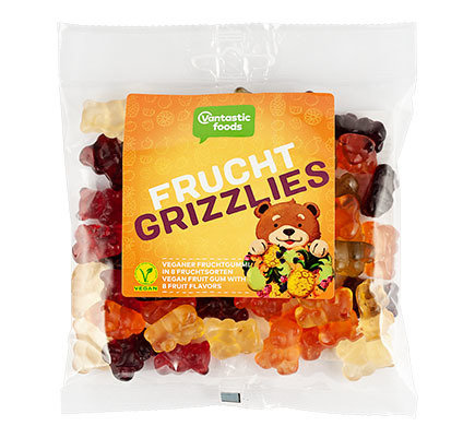 Gummy Bears (Fruit Grizzlies), Vegan - a huge 150g!