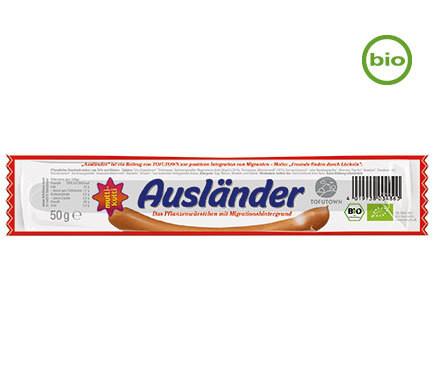 "VIANA ""Ausländer"" Tofu and Seitan Salami snack – Organic! - 50g!"