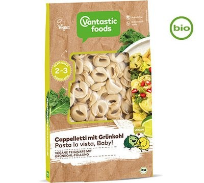 Vantastic foods CAPPELLETTI with kale, organic, 250g