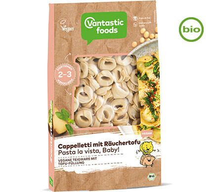Vantastic foods CAPPELLETTI with smoked tofu, organic, 250g