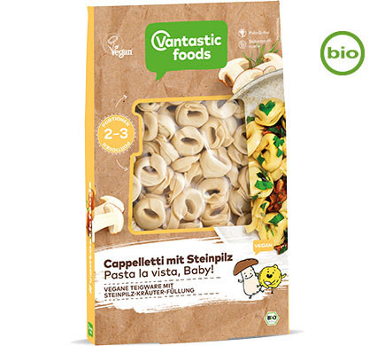 Vantastic foods CAPPELLETTI with porcini mushrooms, organic, 250g