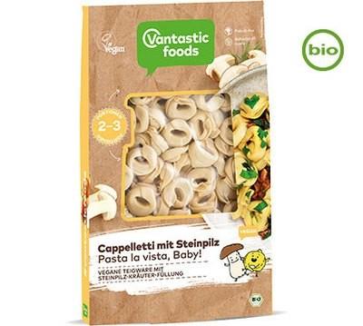 Vantastic foods CAPPELLETTI with porcini mushrooms, organic, 250g