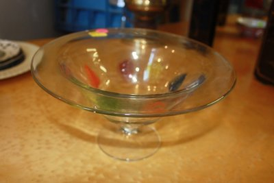 Glass Bowl With Color Accents