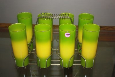 8 Peice Vintage Glass Set With Carrier