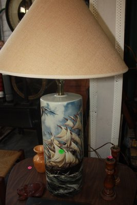 Ceramic Lamp - Sailing