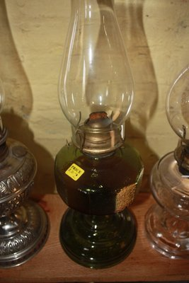 Kerosene Lamp - Clear and Green